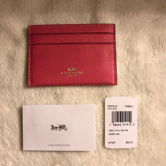 NWT Coach card case